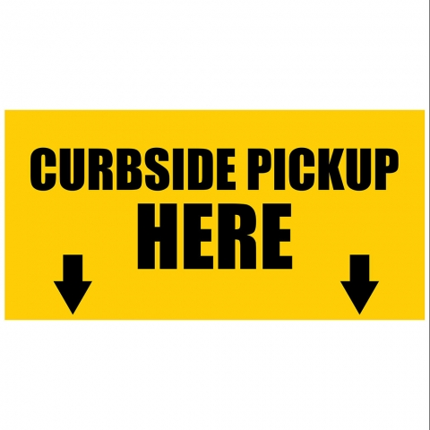 Curbside Pickup Here with Arrows