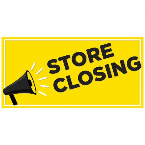 Store Closing Megaphone