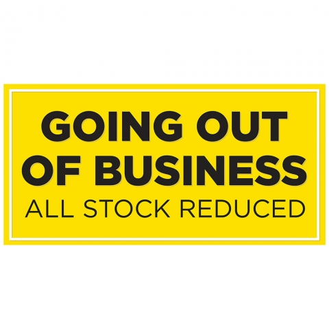 Going Out of Business - All Stock Reduced