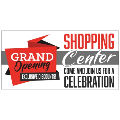 Grand Opening Discounts at Shopping Center