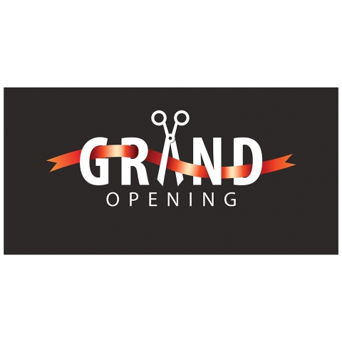 Grand Opening with Date Address
