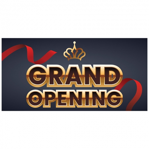 Grand Opening with Crown Date Time