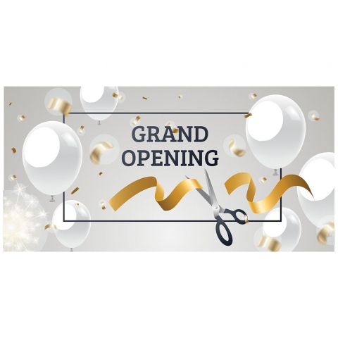 Grand Opening with Scissors Date Time