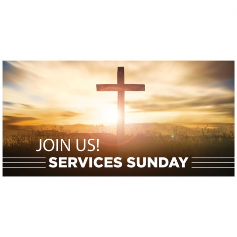 Join Us Sunday Services with Time