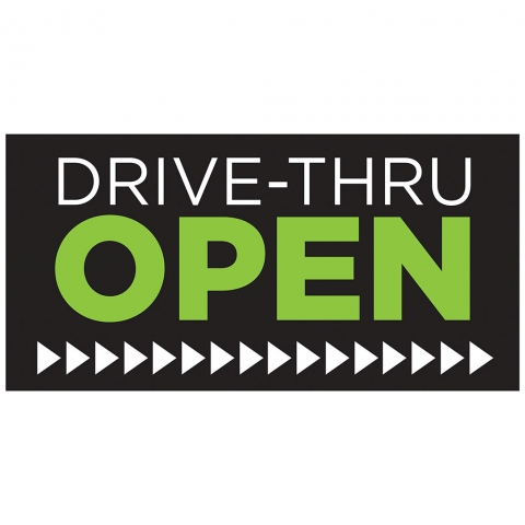 Drive-Thru Open Right Arrow