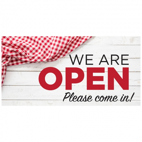 We Are Open Please Come In