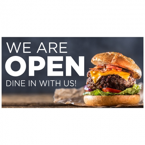 We Are Open Dine with Us