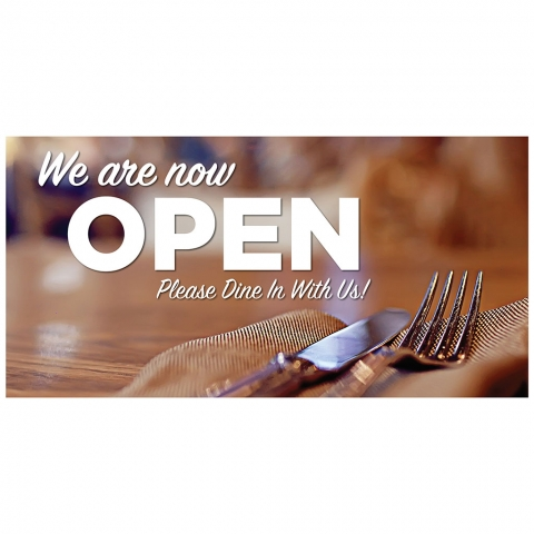 We Are Now Open Dine In With Us