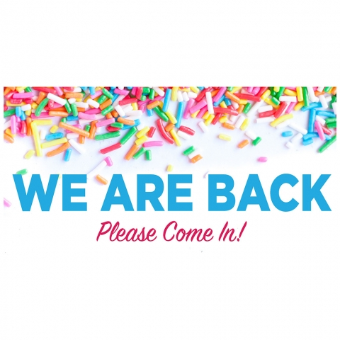 We Are Back Please Come In
