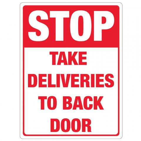 STOP Deliveries to Back Door