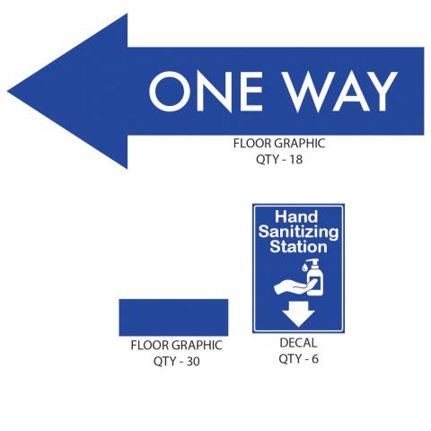 School Hallway Signage