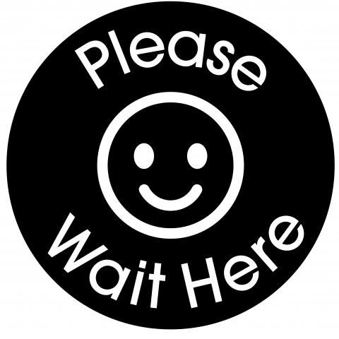 Please Wait Here-Black