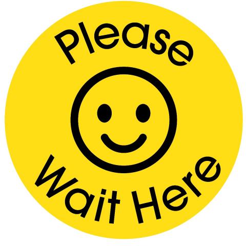 Please Wait Here-Bright Yellow