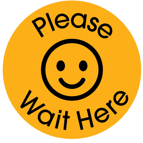 Please Wait Here-Golden Yellow