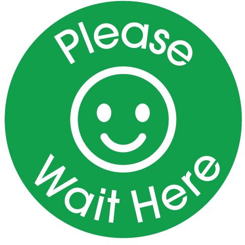 Please Wait Here-Light Green