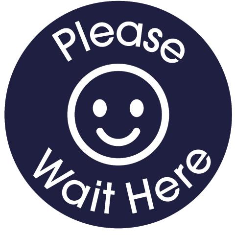 Please Wait Here-Navy Blue