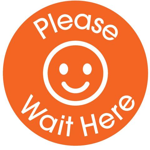 Please Wait Here-Orange