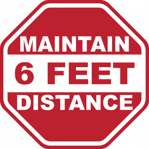 Maintain 6 Feet Distance