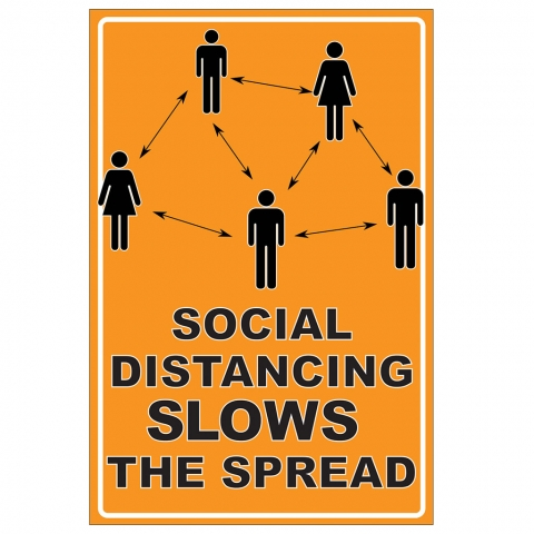 Social Distancing Slows the Spread