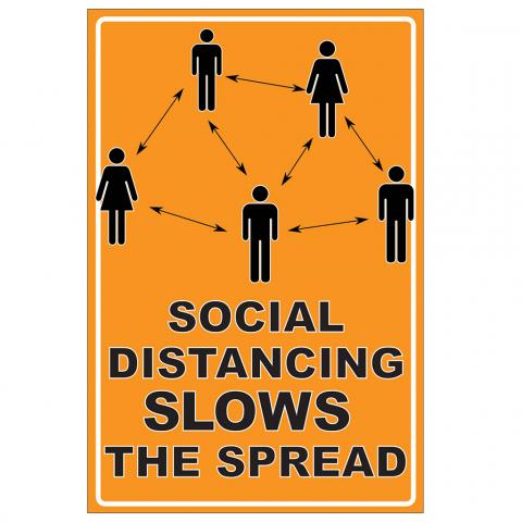 Social Distancing Slows the Spread