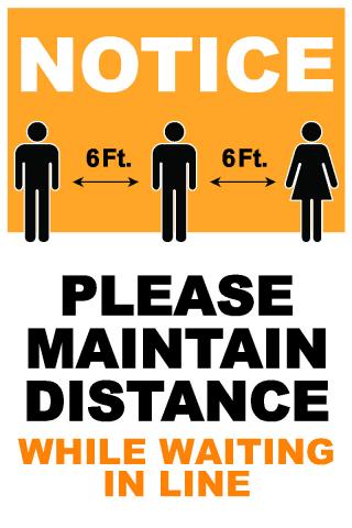 Social Distancing In Line
