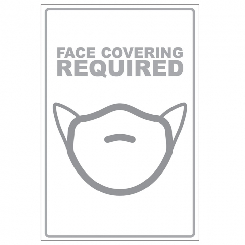 Face Cover Required - Gray