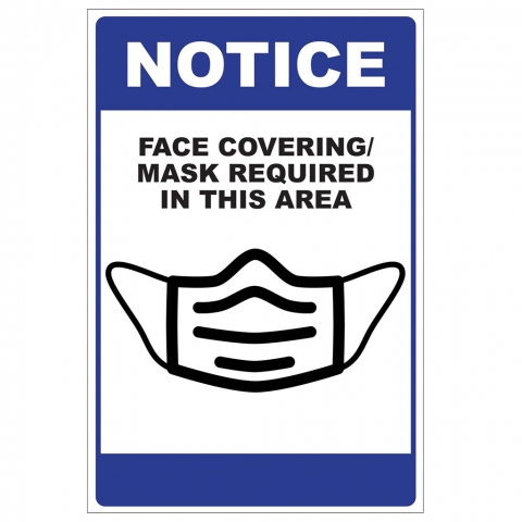 Face Cover Required - Blue
