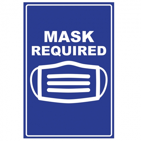 Mask Required - Blue