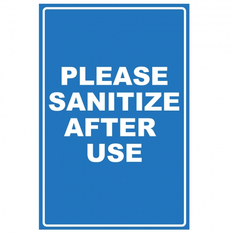 Please Sanitize After Use