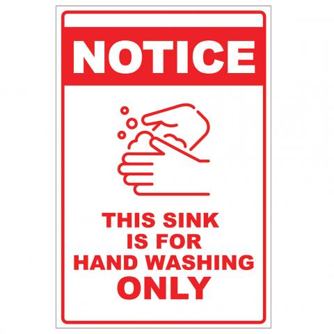 Handwashing Only Sink