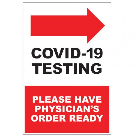 COVID-19 Testing Arrow Right
