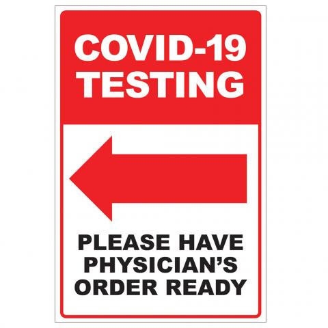 COVID-19 Testing Arrow Left