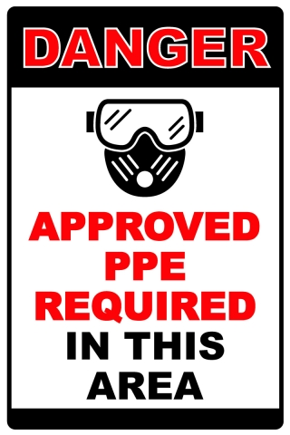 PPE Required Area