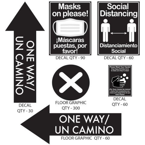 Social Distancing Billingual Pack