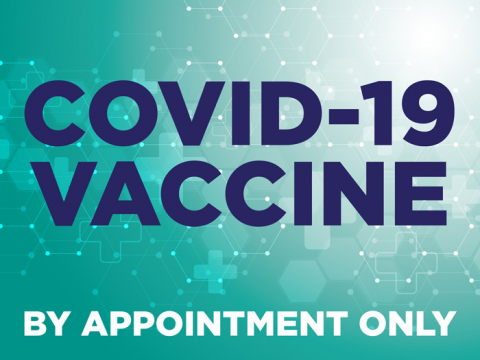 Covid-19 Vaccine By Appointment Only. Yard sign with a green image that helps you inform clients about the vaccination process. Facility control yard signs by Signtacular