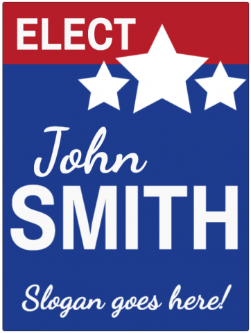 Election Signs with Name & Position