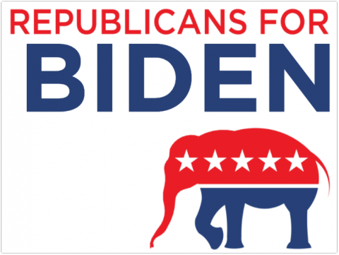Republicans For Biden Signage