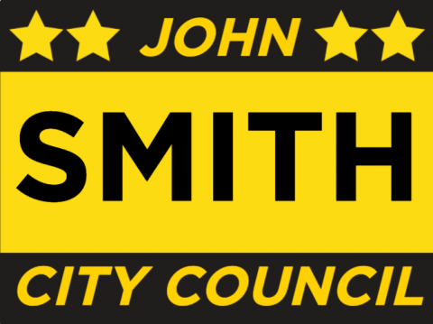 City Council Yard Signs